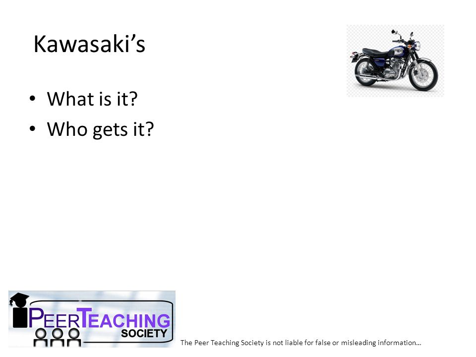 The Peer Teaching Society is not liable for false or misleading information… Picture Quiz!
