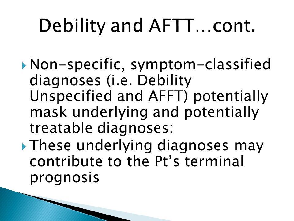  Non-specific, symptom-classified diagnoses (i.e.