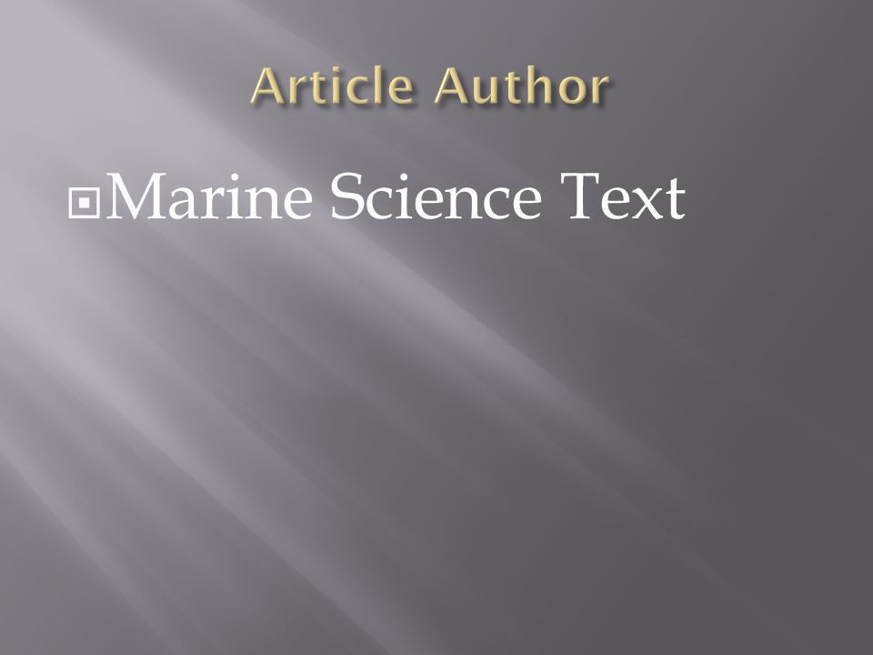  Marine Science Text
