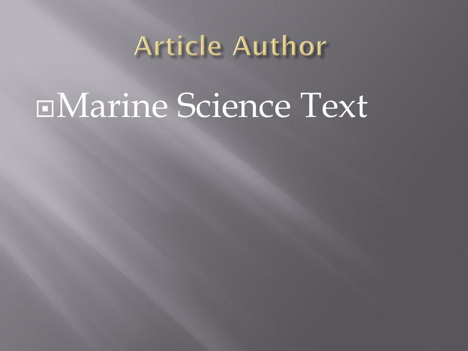  Marine Science Text