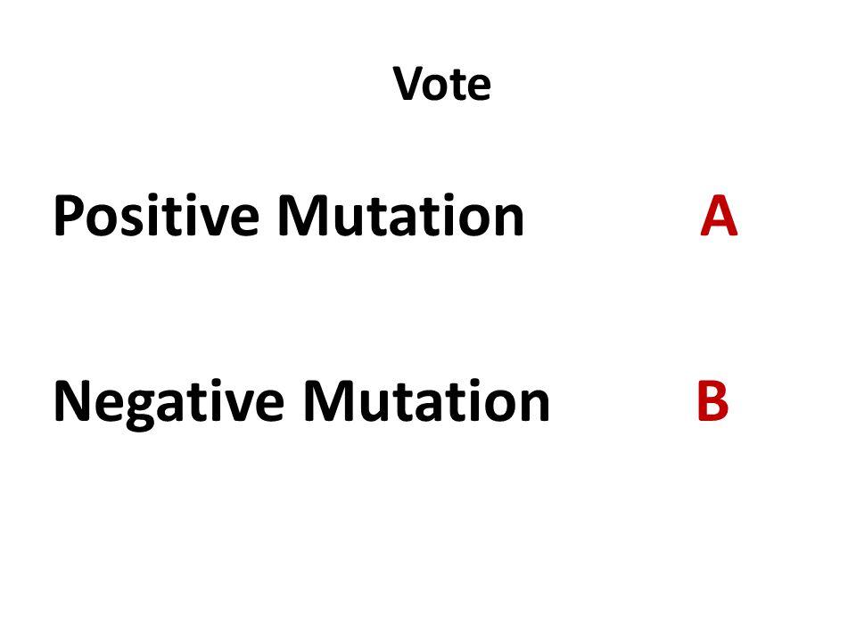 Vote Positive Mutation A Negative Mutation B