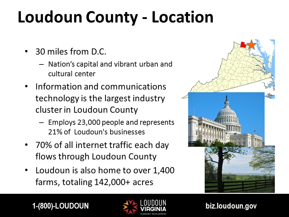 Loudoun County - Location 30 miles from D.C.