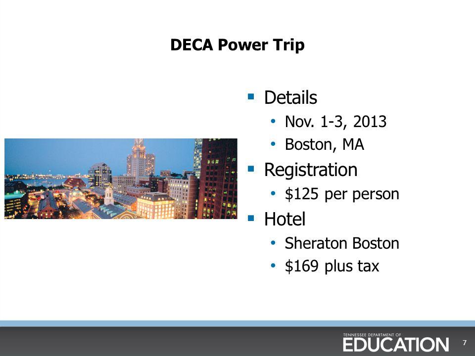 DECA Power Trip  Details Nov.