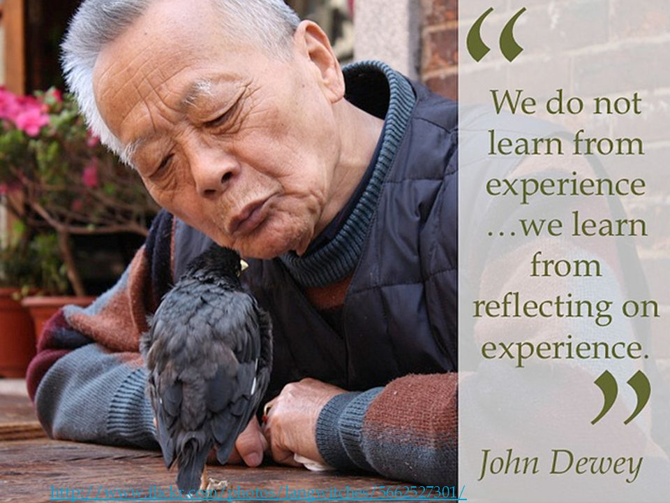 Reflect We do not learn from experience... J.D.