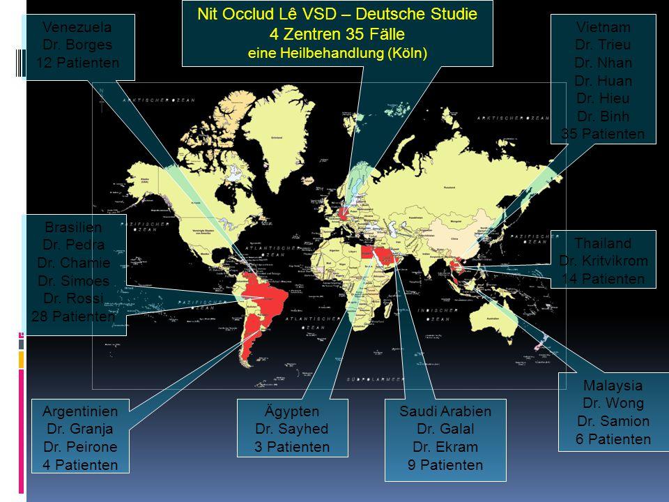 Nit Occlud Lê VSD – Deutsche Studie 4 Zentren 35 Fälle eine Heilbehandlung (Köln) Venezuela Dr.