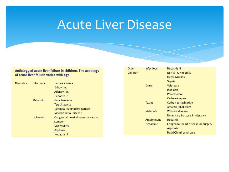 Acute Liver Disease