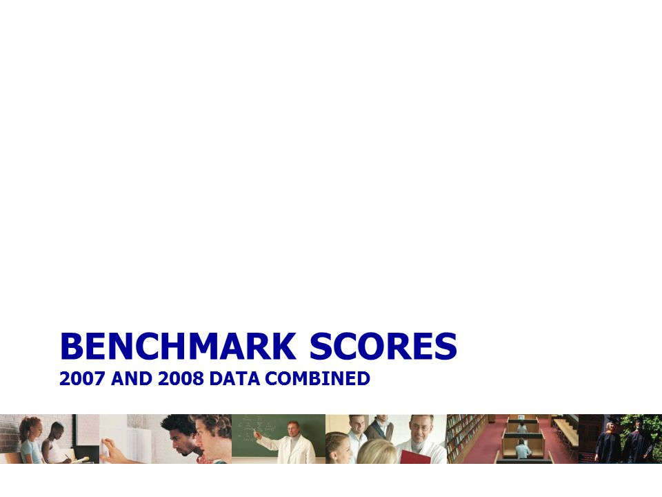 BENCHMARK SCORES 2007 AND 2008 DATA COMBINED
