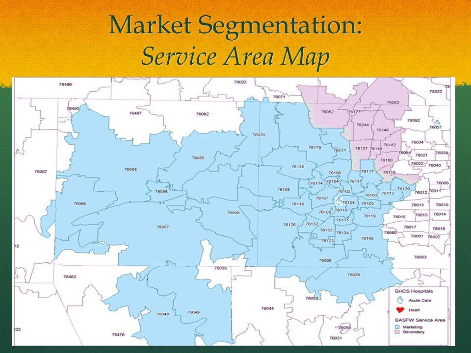 Market Segmentation: Service Area Map