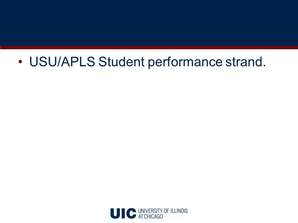 USU/APLS Student performance strand.