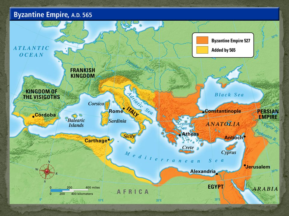 Byzantine Empire Justinian's Code – Body of civil law Laws passed by Roman assemblies, emperors, or judges Passed to western Europe by 100 AD- used by Medieval monarchs and churches Used in international law today Legal system evolved into might is right Strongest wins (Bully System) Laws of Rome forgotten Feudal society Western Europe