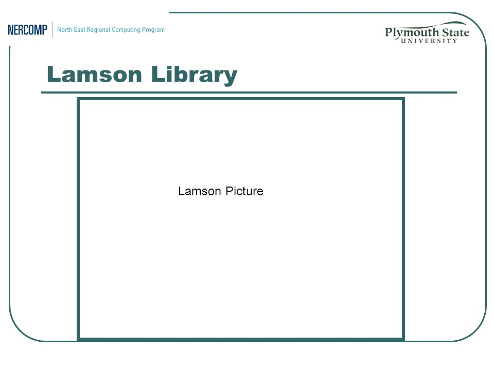 Lamson Library Lamson Picture
