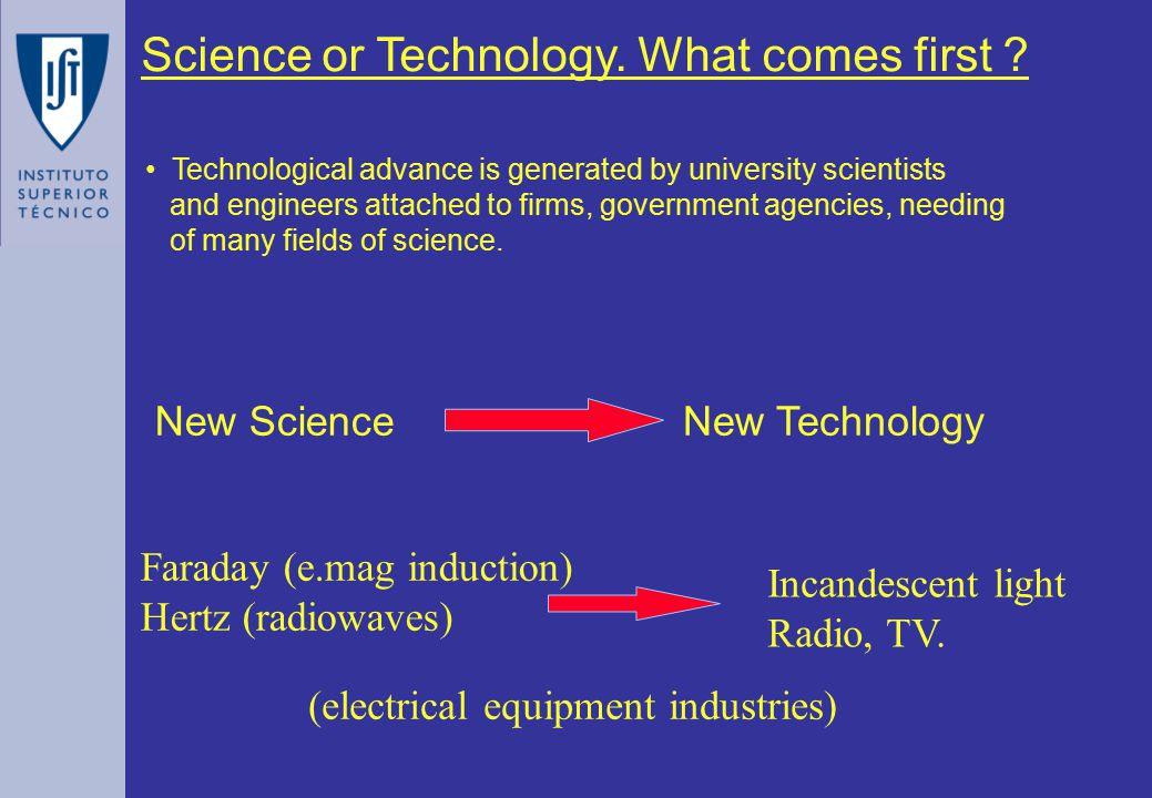 Science or Technology. What comes first .