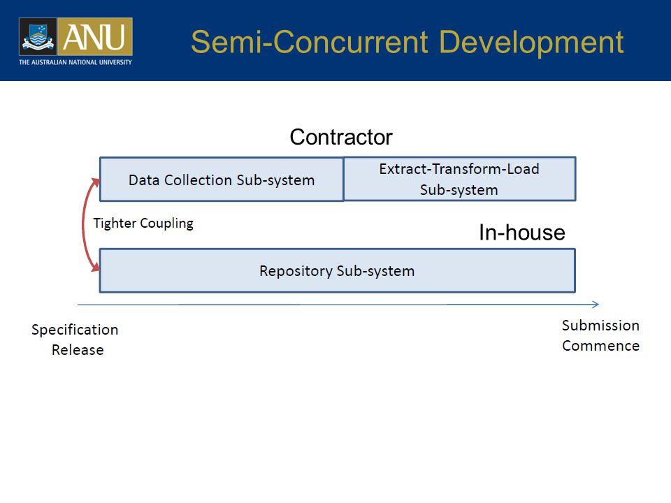 Semi-Concurrent Development In-house Contractor
