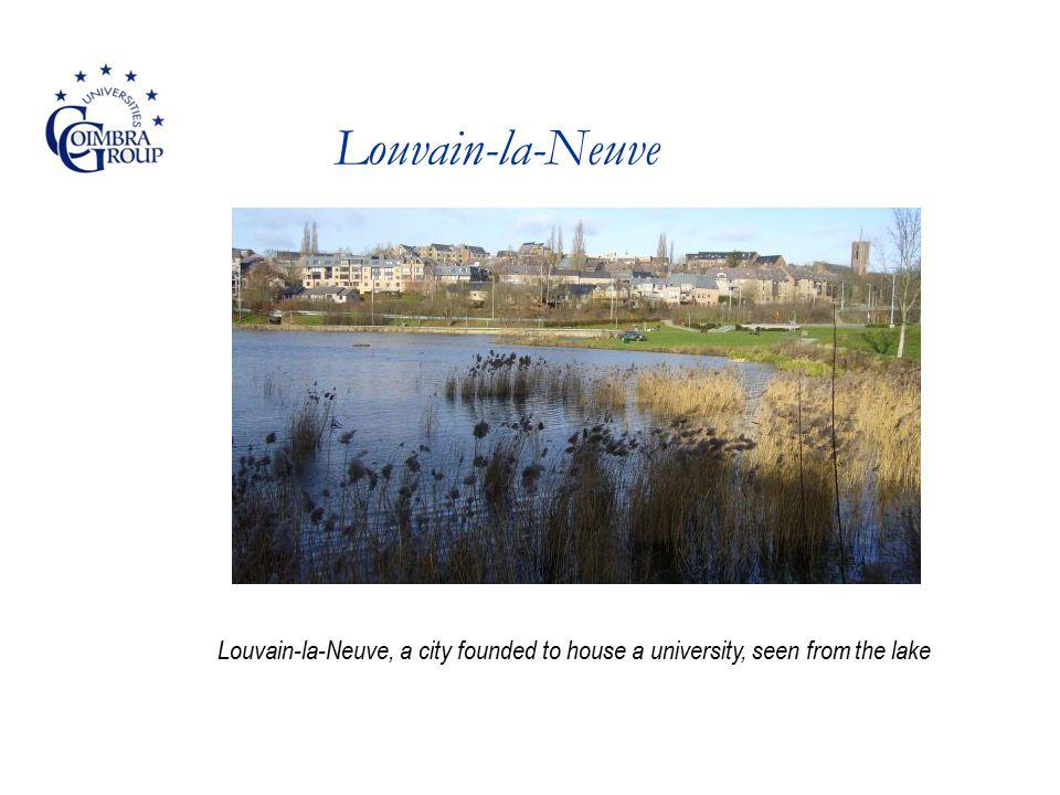 Louvain-la-Neuve Louvain-la-Neuve, a city founded to house a university, seen from the lake