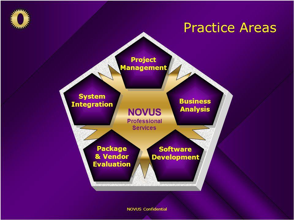 NOVUS Confidential Practice Areas NOVUS Professional Services Project Management Project Management Business Analysis Business Analysis Software Devel