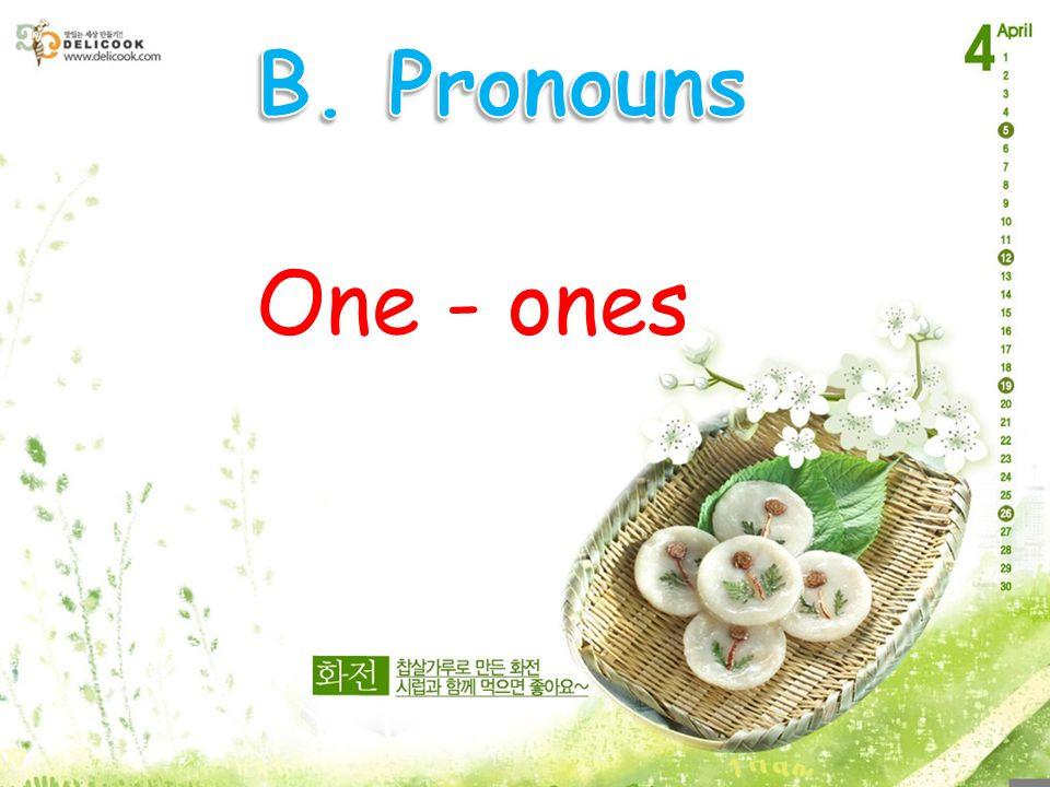 One - ones