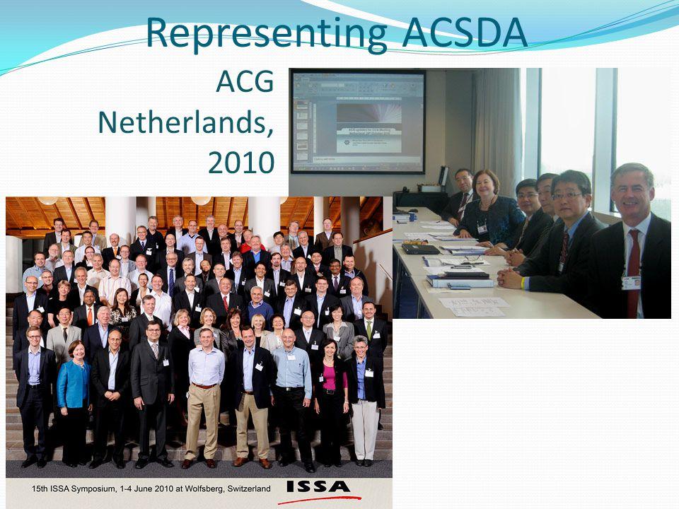 Representing ACSDA ACG Netherlands, 2010