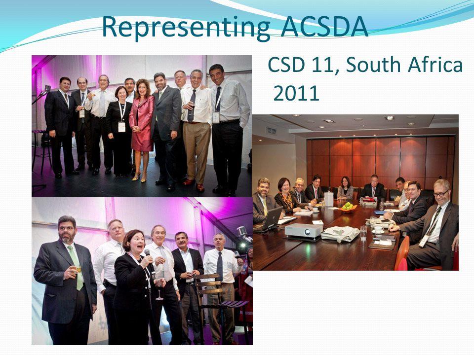 Representing ACSDA CSD 11, South Africa 2011