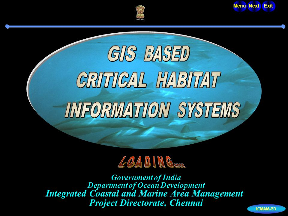 Government of India Department of Ocean Development Integrated Coastal and Marine Area Management Project Directorate, Chennai...