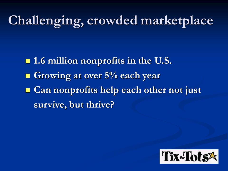 1.6 million nonprofits in the U.S. 1.6 million nonprofits in the U.S. Growing at over 5% each year Growing at over 5% each year Can nonprofits help ea