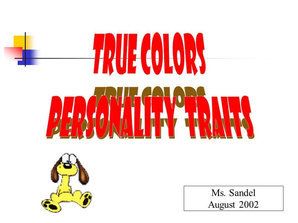 Ms. Sandel August 2002