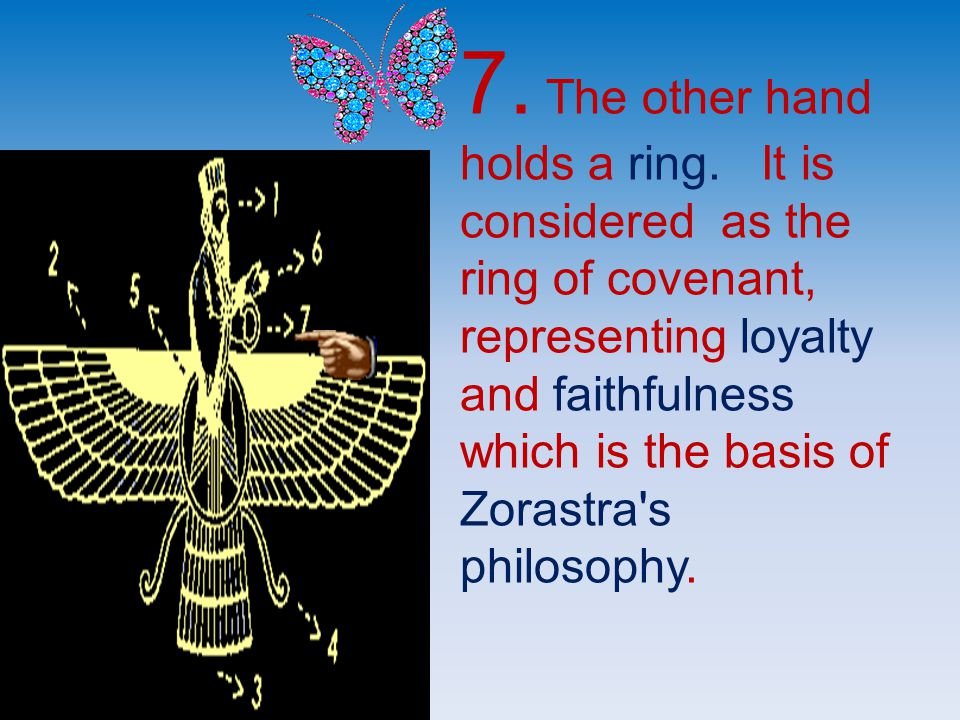 7. The other hand holds a ring.