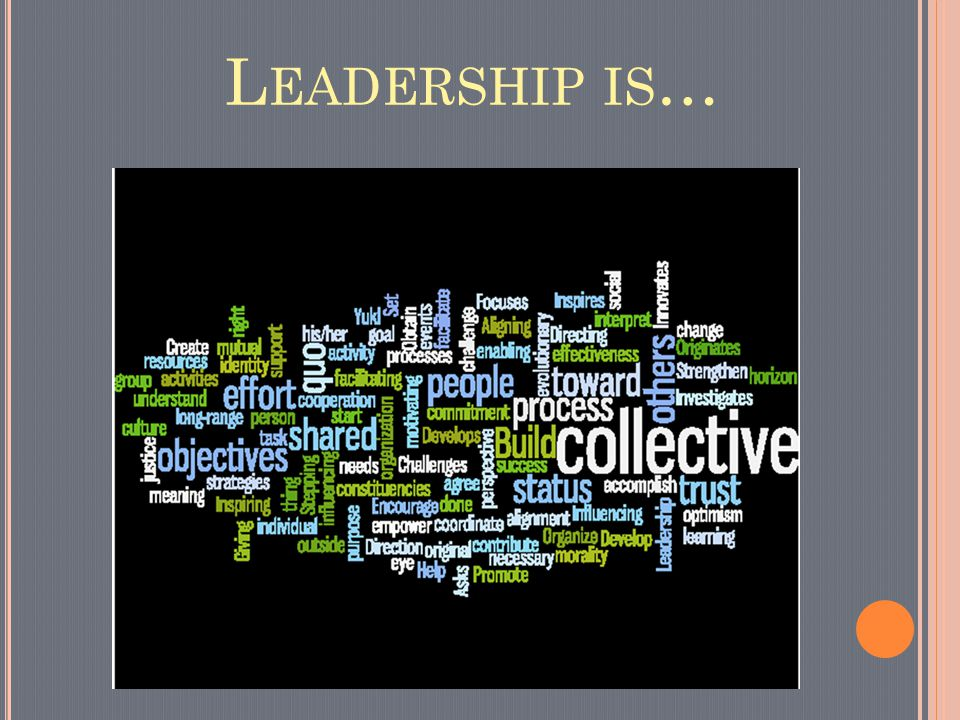 L EADERSHIP IS …
