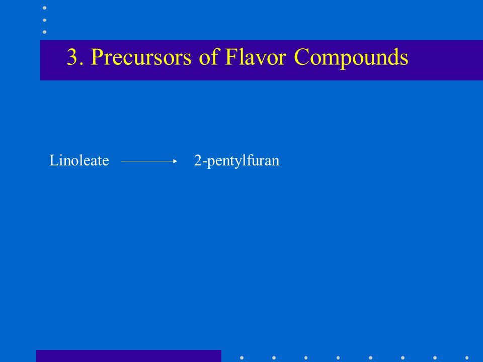 3. Precursors of Flavor Compounds Linoleate 2-pentylfuran