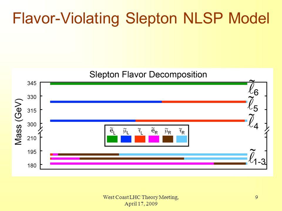 9 Flavor-Violating Slepton NLSP Model