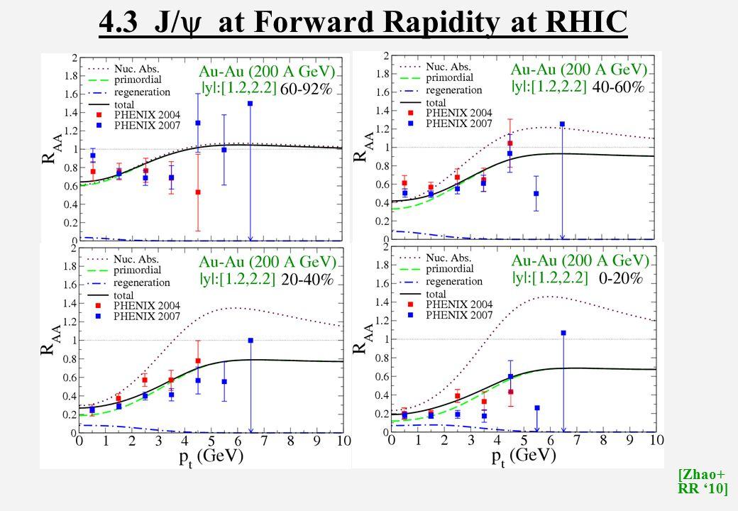 4.3 J/  at Forward Rapidity at RHIC [Zhao+ RR '10]
