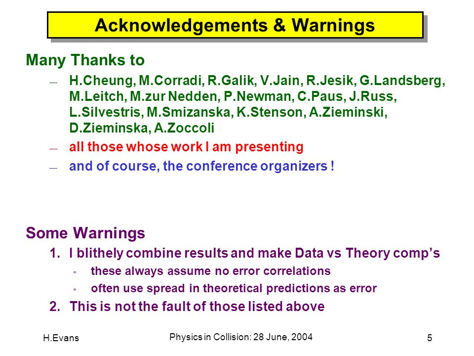 H.Evans Physics in Collision: 28 June, 2004 26 The J/  Production Crisis CDF 1997 the CSM doesn't work .