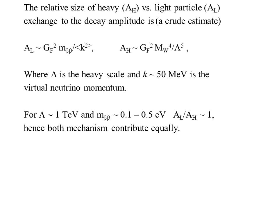 The relative size of heavy (A H ) vs.