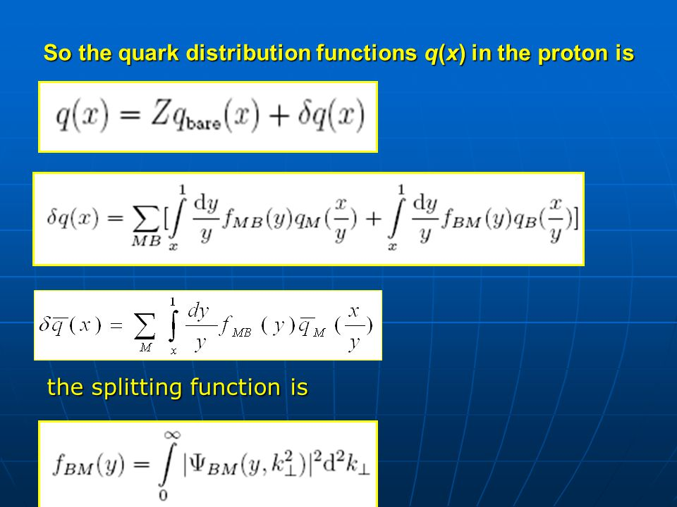 We use time-ordered perturbation theory in the infinite momentum frame to calculate this function