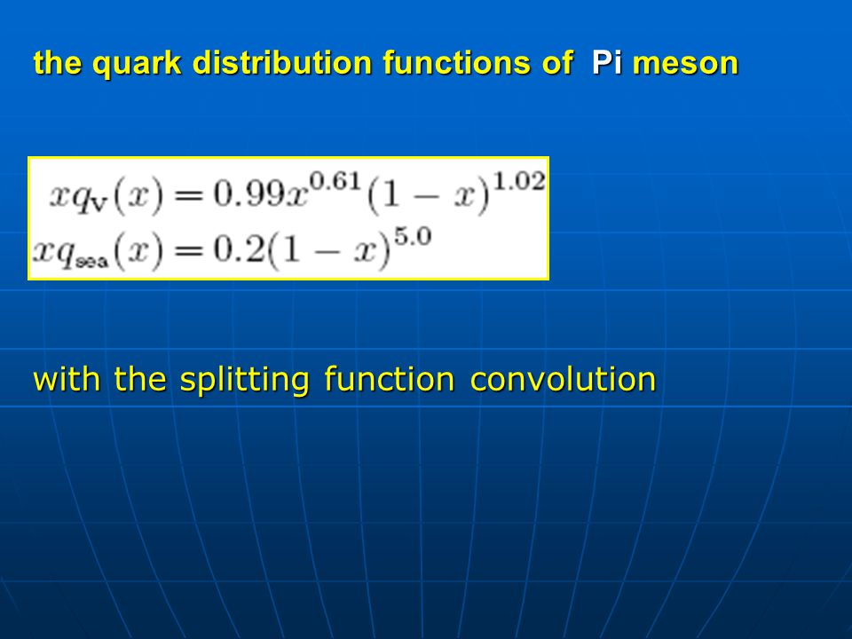 In a full calculation, we should include all kinds of mesons and baryons.