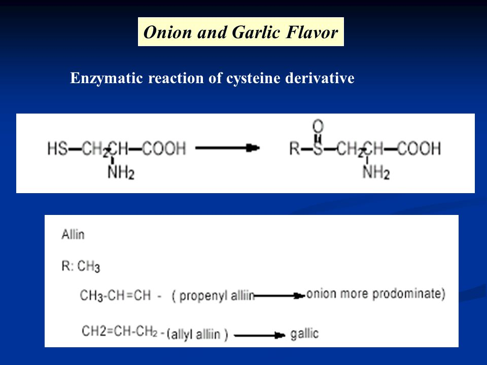 Onion and Garlic Flavor Enzymatic reaction of cysteine derivative