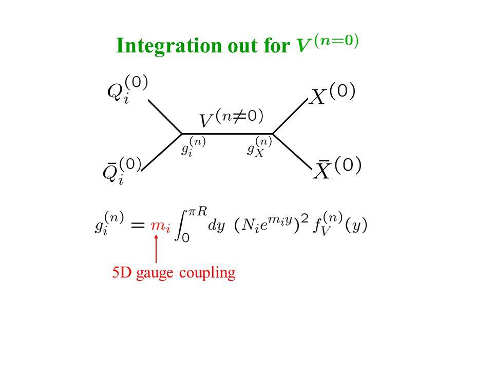 Integration out for 5D gauge coupling