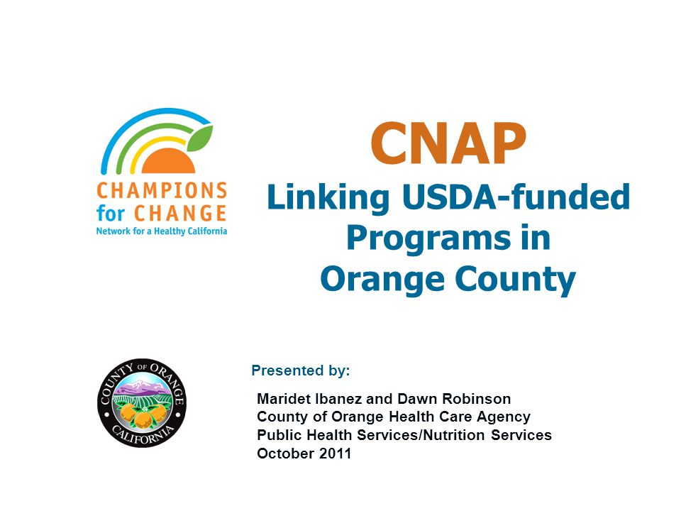 USDA-FNS US Dept of Agriculture – Food and Nutrition Services 1 in 5 Americans each year $50B in food assistance, $650M in nutrition ed (2005?) FNS Programs: –Supplemental Nutrition Assistance Program (Food Stamps) –Women, Infants and Children (WIC) (+ Farmers Market) –School Meals (Breakfast, Lunch, Special Milk, Team Nutrition) –Summer Food Service Program –Child & Adult Care Food Program –Food Assistance for Disaster Relief –Food Distribution (Commodity, Commodity SFP, Emergency FAP)