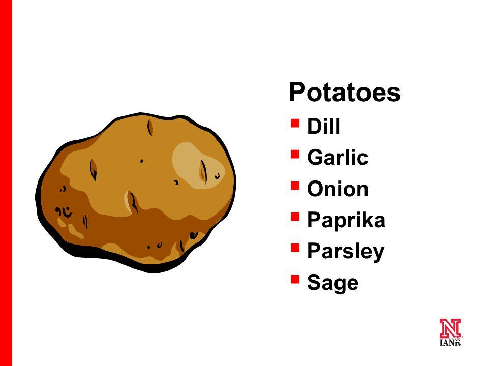 27 Potatoes  Dill  Garlic  Onion  Paprika  Parsley  Sage