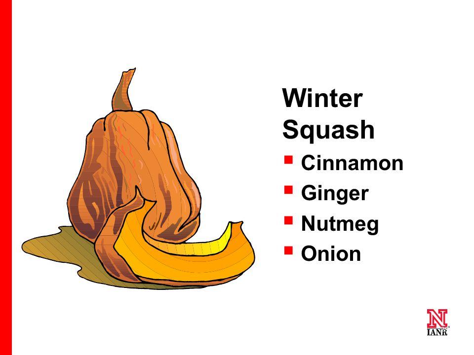 29 Winter Squash  Cinnamon  Ginger  Nutmeg  Onion