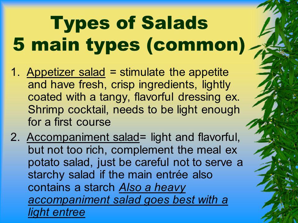 Types of Salads 3.