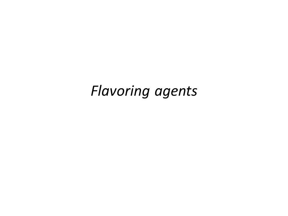 Flavoring agents