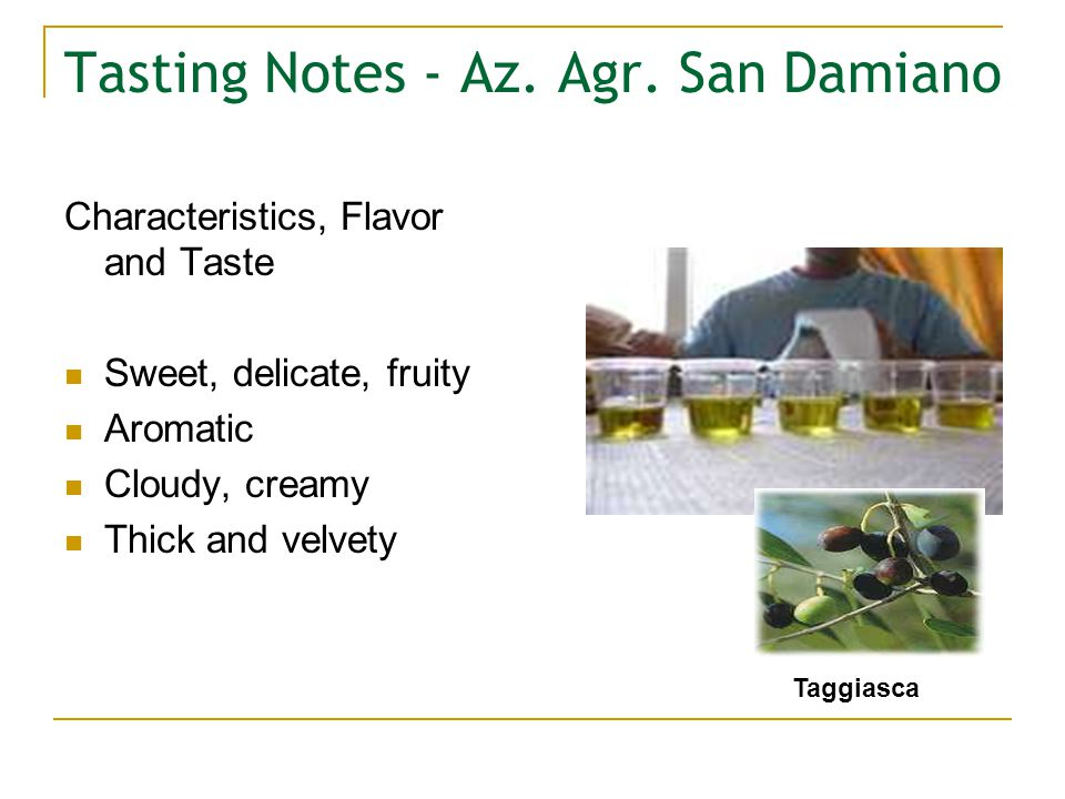 Tasting Notes - Az. Agr.