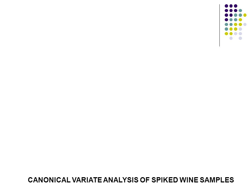 CANONICAL VARIATE ANALYSIS OF SPIKED WINE SAMPLES