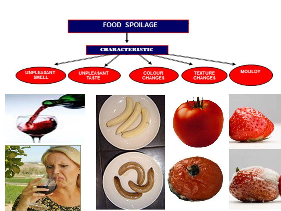 5 Food Food deterioration Economic loss Food spoilage