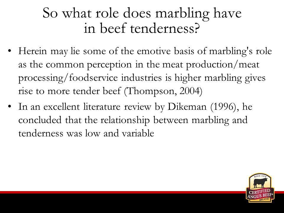 Brief summary of key literature citations Bindon, B.M.