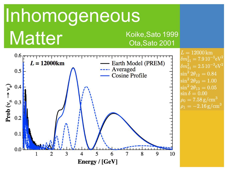 Inhomogeneous Matter Koike,Sato 1999 Ota,Sato 2001