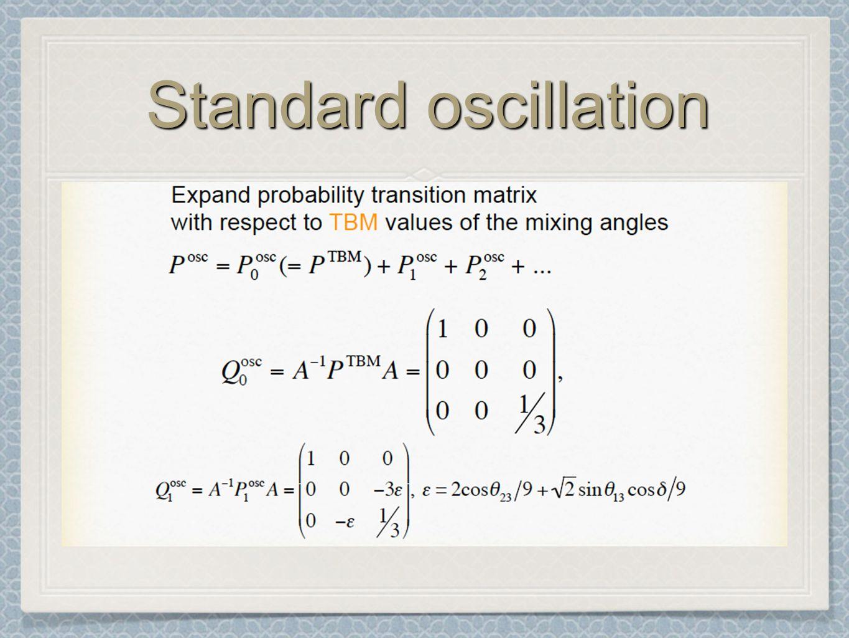 Standard oscillation
