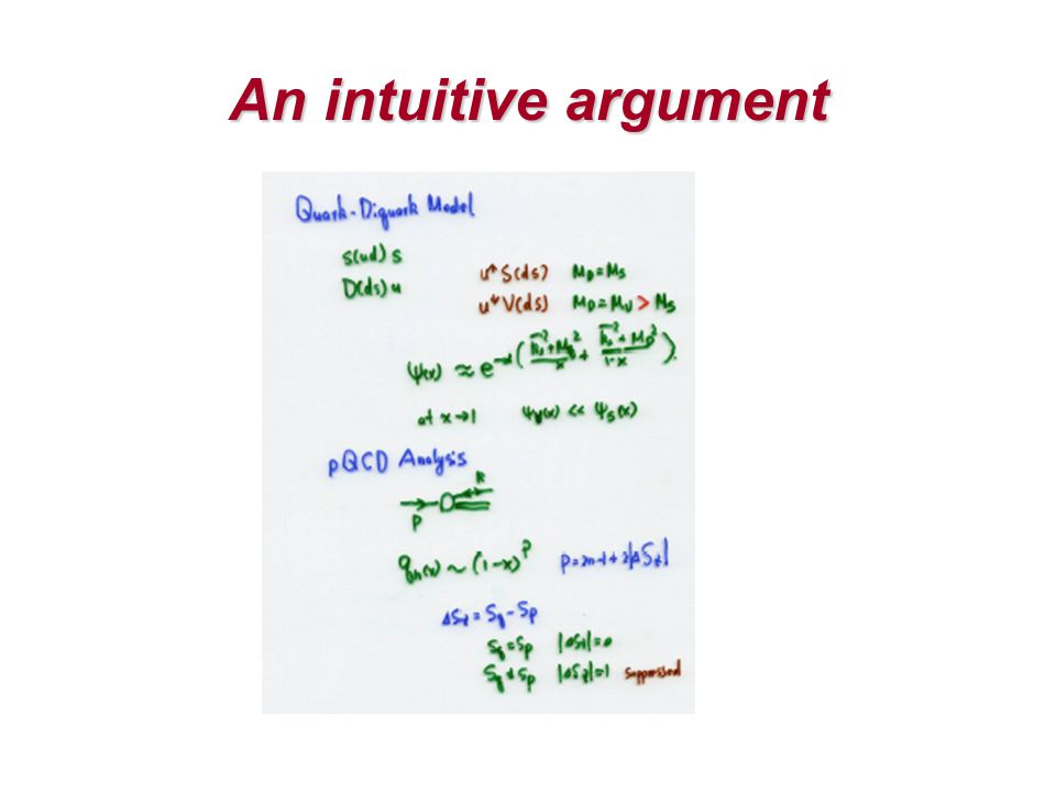 An intuitive argument