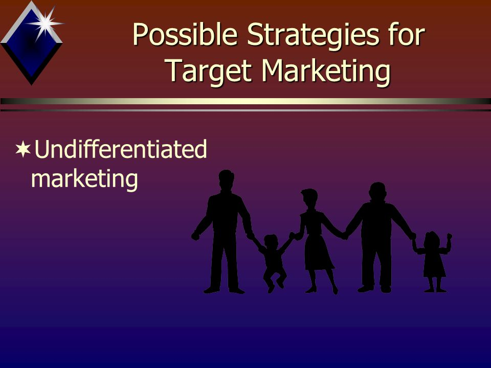 Possible Strategies for Target Marketing ­Concentrated Marketing b80 / 20 Principle bMajority fallacy