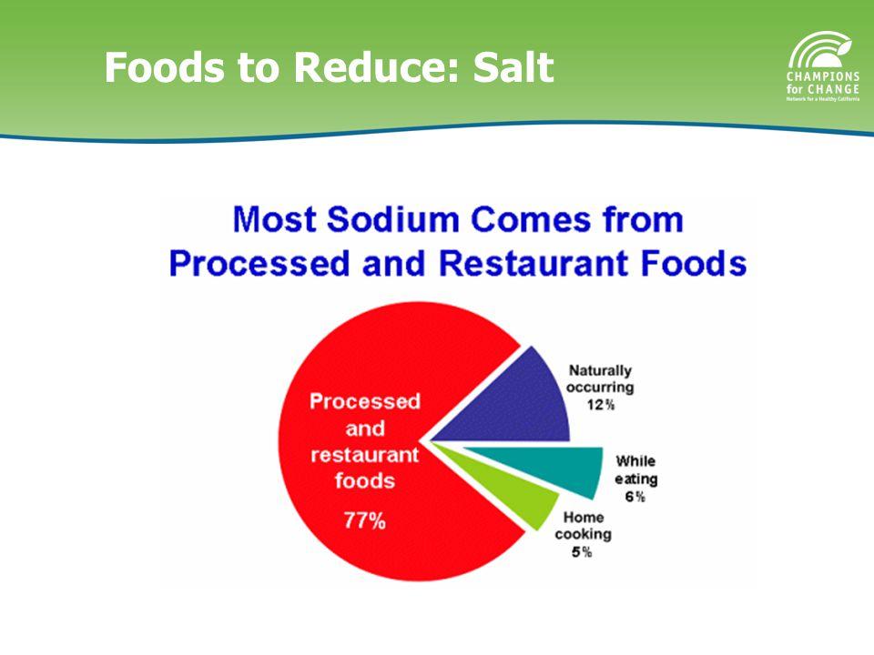 Foods to Reduce: Salt